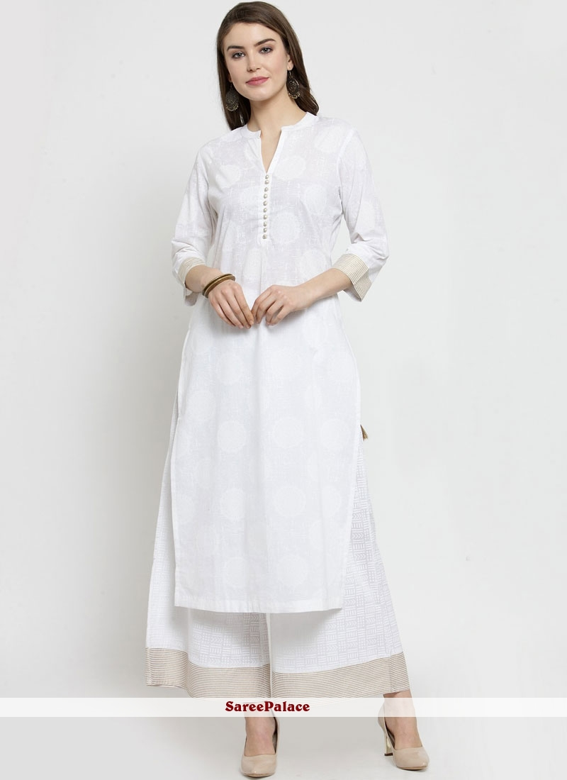 c6a8ffcdb7 Buy White Casual Cotton Casual Kurti Online