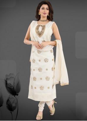 White Ceremonial Churidar Designer Suit