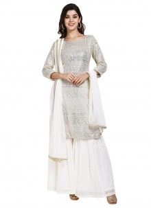 White Color Designer Pakistani Suit