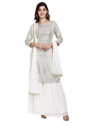 White Color Designer Pakistani Suit