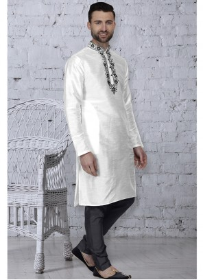 White Color Kurta Pyjama
