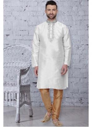 White Color Kurta Pyjama