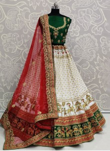 White Color Trendy Lehenga Choli