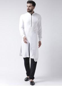 White Cotton Kurta Pyjama