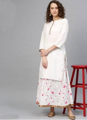 White Cotton Salwar Kameez