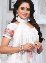 White Embroidered Classic Saree