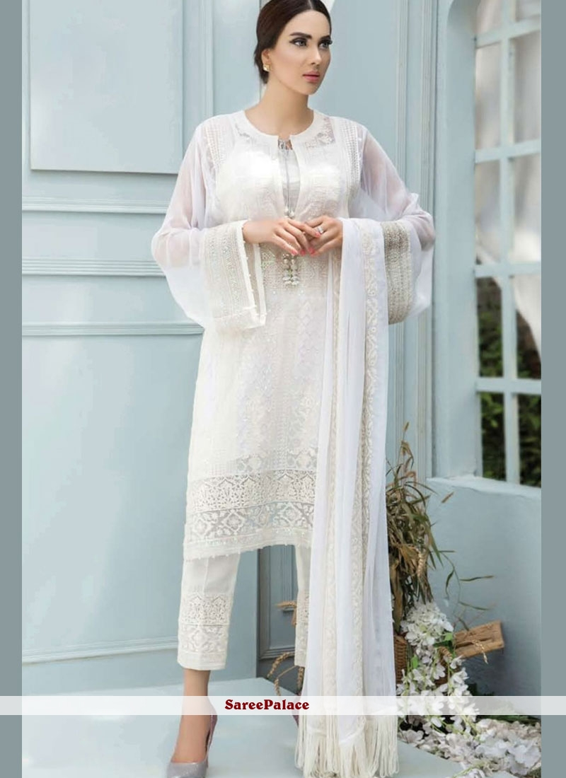 b4474a96e8c7 Buy White Embroidered Designer Pakistani Suit Online