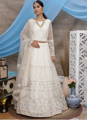 White Embroidered Festival Designer Lehenga Choli