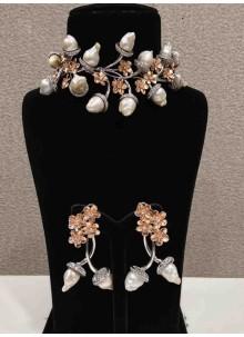 White Engagement Necklace Set