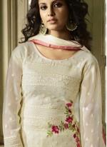 White Festival Churidar Designer Suit