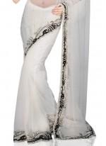 White Net Classic Saree
