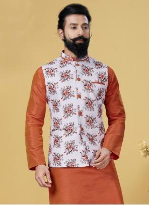 White Party Cotton Nehru Jackets