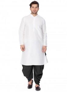 White Plain Kurta Pyjama