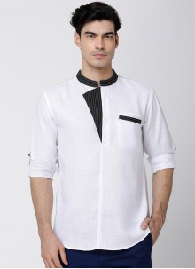 White Sangeet Cotton Kurta
