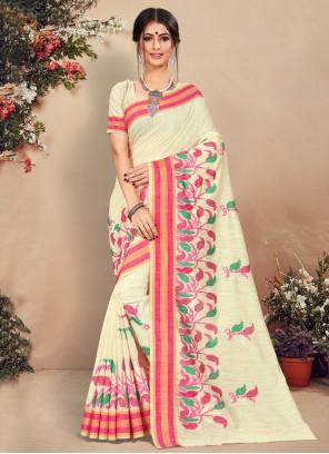 White Trendy Saree