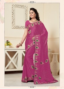 Wine Ceremonial Designer Traditional Saree