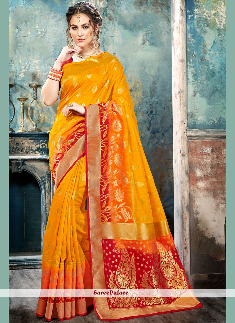 Winsome Silk Abstract Print Work Traditional  Saree