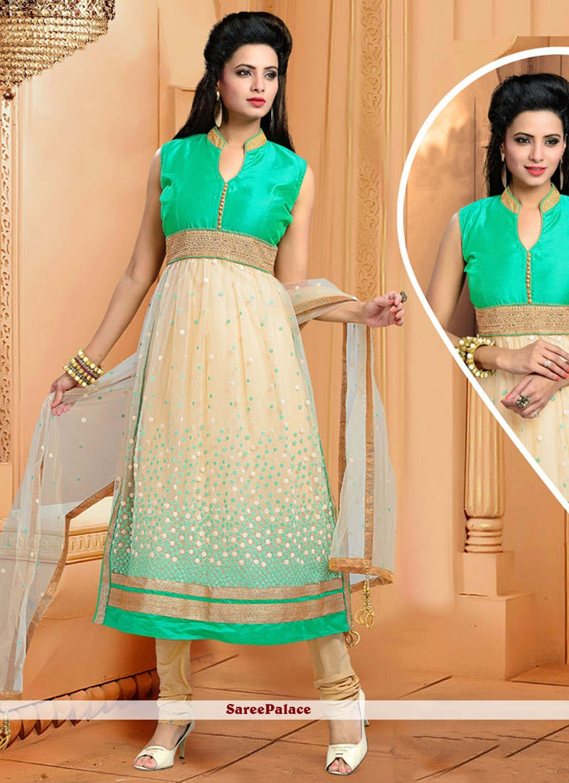 Wonderous Cotton   Embroidered Work Readymade Suit