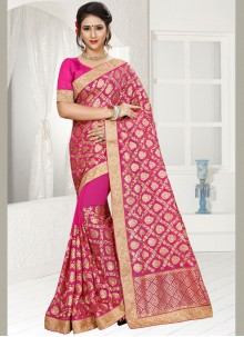 Wonderous Faux Georgette Classic Saree
