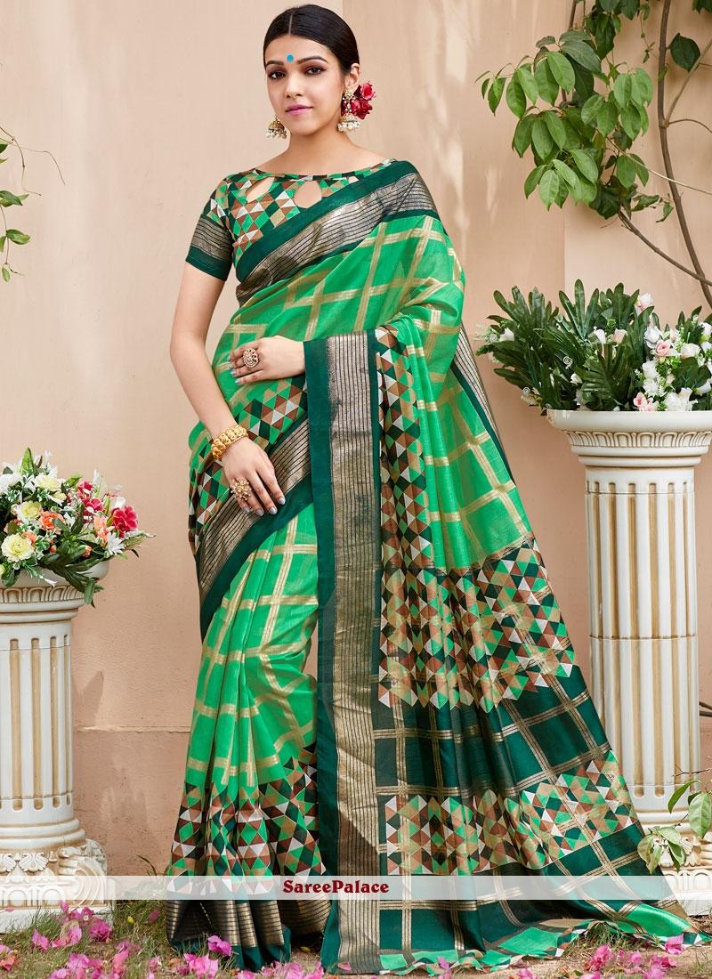 Woven Art Silk Multi Colour Traditional  Saree