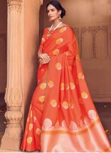 Woven Art Silk Traditional Designer Saree