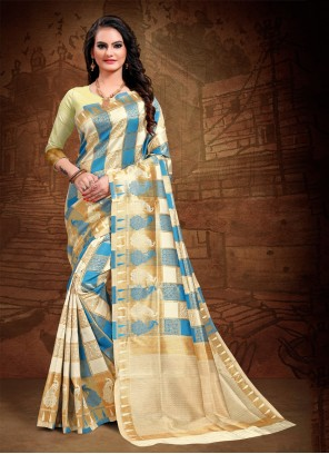 Multii Colour Woven Art Silk Traditional Saree