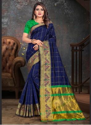 Woven Cotton Casual Saree