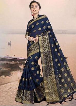 Woven Linen Classic Designer Saree