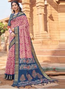 Woven Multi Colour Silk Traditional Saree