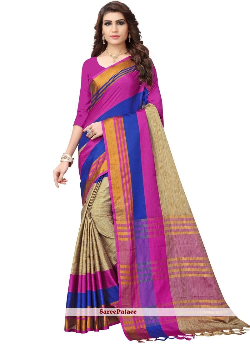 Multi Colour Woven Cotton Casual Saree