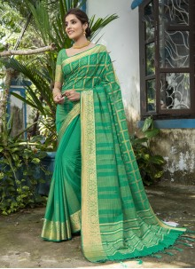 Woven Rama Traditional Designer Saree