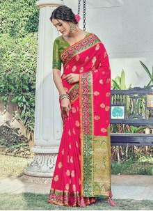 Woven Rani Silk Traditional Saree