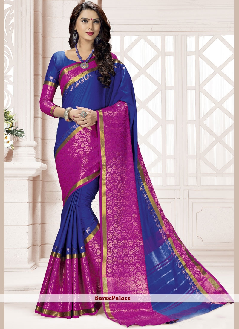 woven Work Blended Cotton Saree