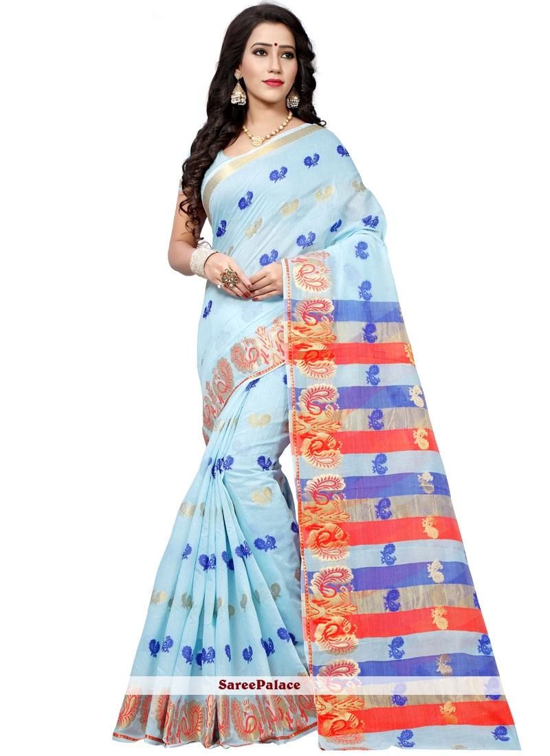 woven Work Cotton Silk Traditional  Saree