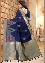 woven Work Linen Classic Saree