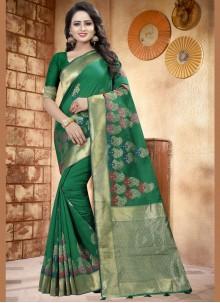 woven Work Linen Designer Saree