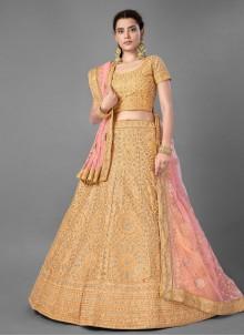 Yellow Art Silk Bollywood Lehenga Choli