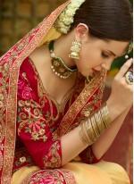 Yellow Bridal Designer Traditional Saree