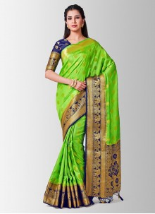 Yellow Casual Art Silk Designer Traditional Saree