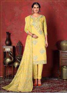 Yellow Ceremonial Churidar Designer Suit