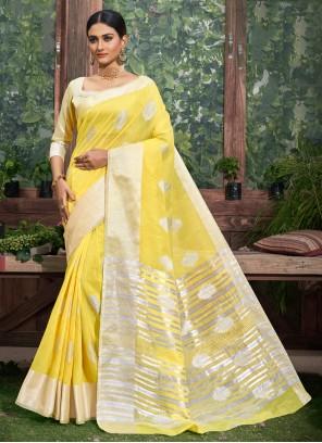 Yellow Ceremonial Classic Designer Saree
