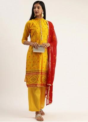 Yellow Ceremonial Designer Pakistani Suit