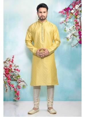 Yellow Ceremonial Kurta Pyjama