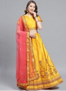 Yellow Color Trendy Lehenga Choli