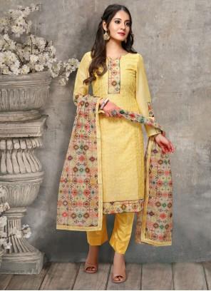 Yellow Color Trendy Salwar Kameez