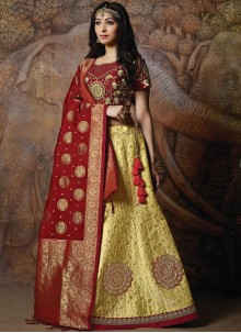 Yellow Designer Lehenga Choli
