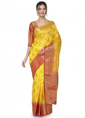 Yellow Designer Traditional Saree