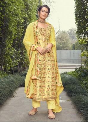 Yellow Fancy Festival Designer Pakistani Suit