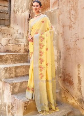 Yellow Festival Classic Designer Saree