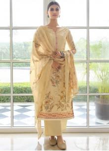 Yellow Festival Designer Palazzo Suit